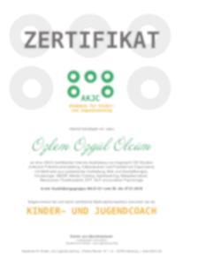 Zertifikat Kunder- und Jugendcoach